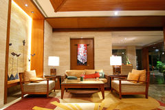 Hotel Lobby. Interior design of a hotel lobby Royalty Free Stock Images