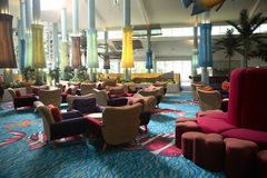 Hotel Lobby. Interior of an anonymous hotel lobby in Whitsunday Stock Photography