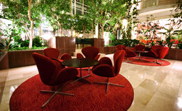Hotel lobby. With plants around Royalty Free Stock Photography