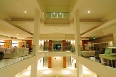 Hotel Lobby. Modern hotel lobby with open floors Stock Photos