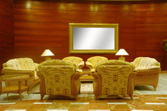 Hotel lobby. Whith table, chairs and sofas Royalty Free Stock Photo