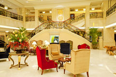 Hotel lobby. Interior of a hotel lobby Royalty Free Stock Image