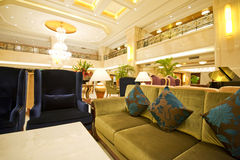 Hotel lobby. Comfortable furnishings in a hotel lobby Royalty Free Stock Photo