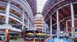 Hotel Lobby. Panoramic view of Awana Kijal Resort lobby area Royalty Free Stock Images