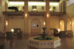 Hotel lobby. Lobby of a famous hotel in Hollywood, L.A., California, U.S.A Stock Photography