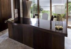 The hotel lobby affair table. Stock Photo