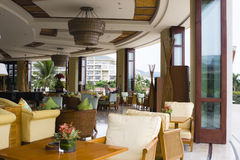 Hotel lobby coffee shop and bar royalty free stock photos