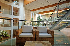 Hotel lobby in contemporary style Stock Photography