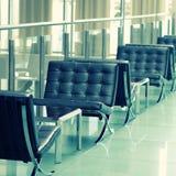 Hotel lobby in contemporary style Stock Photos