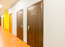 The hotel lobby corridor with modern design Stock Photos