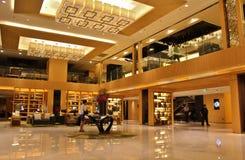 Hotel lobby. Courtyard by Marriott Shanghai Puxi royalty free stock photo