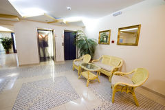 Hotel lobby and elevator door royalty free stock photo