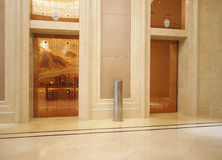 Hotel lobby and Elevator Stock Photo