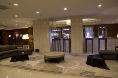 Hotel lobby of Four Seasons Vancouver Royalty Free Stock Photo