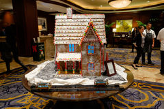 Hotel Lobby Gingerbread House Royalty Free Stock Image