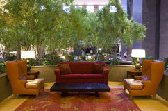 Hotel lobby of Grand Hyatt Bellevue Royalty Free Stock Photos