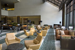 Hotel lobby lounge bar Stock Images
