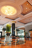 Hotel Lobby. A magnificent and beautiful decor in hotel lobby stock images
