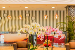 Hotel lobby with modern design Royalty Free Stock Photo