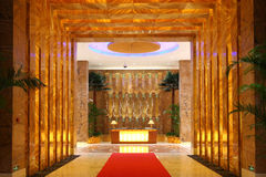 Hotel lobby. A new luxury hotel lobby Stock Photo