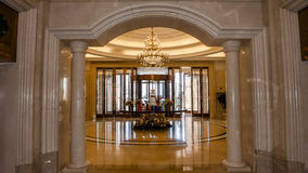 Hotel lobby. Nterior of a luxury hotel lobby Stock Images