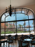 Hotel lobby at San Jose  Sea of Cortez. Large hotel window  overlooking the Sea of Cortez In Baja Mexico near San Jose on the tourist corridor. Hotel lobby with Stock Images