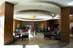 Hotel lobby of Seattle Marriott Waterfront Royalty Free Stock Images