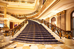 The hotel lobby stairs Stock Images