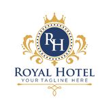 Hotel Logo Template Royalty Free Stock Images