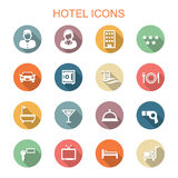Hotel long shadow icons Stock Image