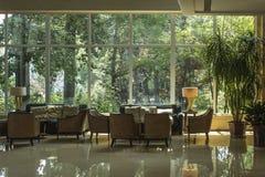 Hotel lounge area Stock Photo