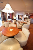 Hotel lounge bar. A hotel lounge bar with modern interior decoration Stock Photos