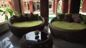 Hotel Lounge of Samui Buri Beach Resort stock footage video stock video