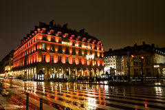 Hotel Louvre, Paris royalty free stock photography