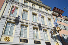 Hotel in Lucerne, Switzerland. Royalty Free Stock Photography