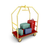 Hotel luggage cart Royalty Free Stock Image