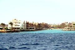 Hotel lussuosi in Hurghada Fotografia Stock Libera da Diritti