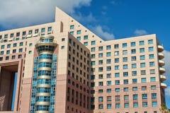Hotel lussuoso del condominio degli appartamenti di progettazione moderna Fotografie Stock Libere da Diritti