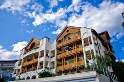 Hotel lussuoso di Alpe di Siusi Immagini Stock