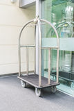 Hotel luxury trolley for transfer suitcase . Royalty Free Stock Photo
