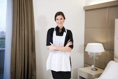 Hotel-Mädchen Lizenzfreies Stockfoto