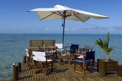 Hotel in Madagascar. Hotel pontoon in Sainte-Marie island, Malagasy Royalty Free Stock Image