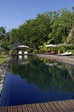 Hotel in Madagascar. Hotel and pool in Sainte-Marie island, Malagasy Stock Photography