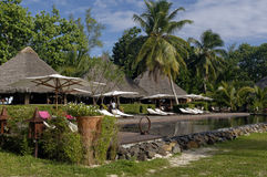 Hotel in Madagascar. Hotel and pool in Sainte-Marie island, Malagasy Royalty Free Stock Photo