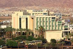 Hotel Magic Palace in popular resort - Eilat, Israel Royalty Free Stock Photos