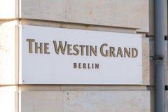 Hotel magnífico Berlín, Alemania de Westin Imágenes de archivo libres de regalías