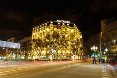 Hotel majestätisch, Barcelona Lizenzfreies Stockfoto