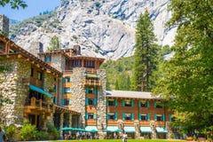 Hotel majestuoso de Yosemite Ahwahnee Imagen de archivo