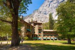 Hotel majestuoso de Yosemite Ahwahnee Fotografía de archivo
