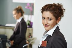 Hotel manager on reception Royalty Free Stock Photos